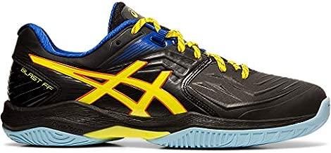 ASICS Men's Blast FF Court Shoes, 10.5M, Black/Sour Yuzu
