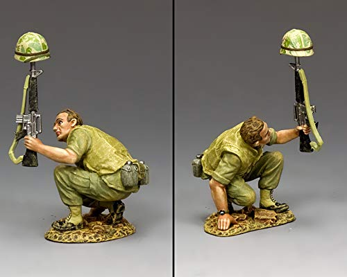 King & Country Toy Soldiers Vietnam VN008 U.S. Marine Kneeling with Decoy 1:30 Scale Pewter