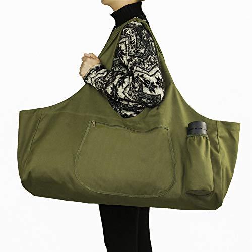 bolsa esterilla yoga,Bolsa grande para esterilla de yoga con 4 bolsillos, se adapta a la mayoría de las alfombrillas con bolsillos de almacenamiento multifuncionales