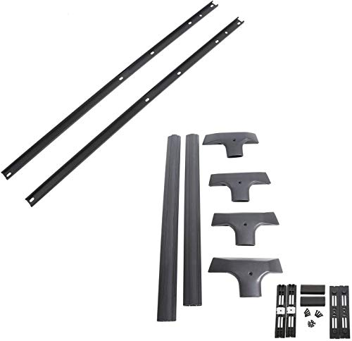 KUAFU Removable Aluminum Roof Rack Cross Bars & Side Rail Package Compatible with 2009-2017 Chevy Chevrolet Traverse-Replace Part # 19244268