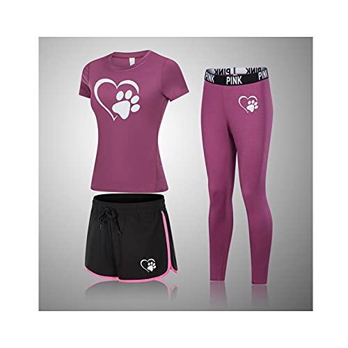 XiaoG Trajes de Ropa de Yoga, Trajes Deportivos de Ropa Deportiva para Mujer, Gimnasio Trajes de Entrenamiento de Mujeres sin Fisuras (Color : 1, Size : XXL)