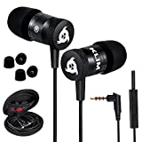 KLIM Fusion Audio Kopfhörer - Langlebig 5 Jahre Garantie - Innovativ: In-Ear Kopfhörer mit Mikrofon - Noise Canceling - Sport Ohrhörer [ Neue 2019 Version ] Schwarz