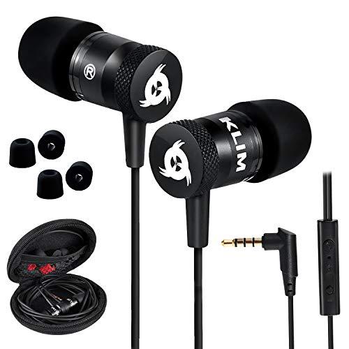 KLIM™ Fusion Auricolari con Microfono + Audio di Alta qualità + Cuffie di Lunga Durata con Memory Foam + Garanzia 5 Anni - Jack 3.5 mm per iOS Android PC Console + Nuova Versione 2020 + Nero