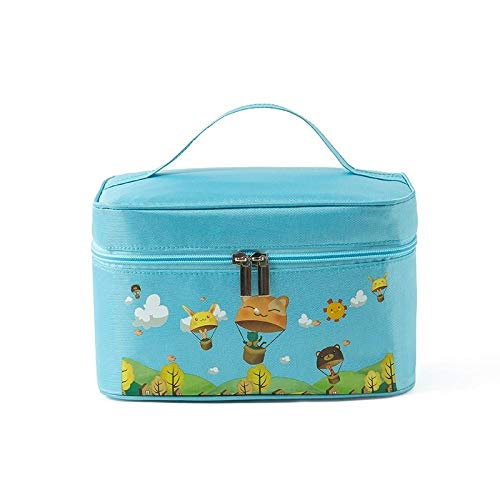 AOARR Lunch Bags For Girls Insulation Lunch Box Bag Handbag Children'S Primary School Students Lunch Bag Lunch Tote Bag Waterproof Lunch Bag-Blue-21 * 16 * 16Cm