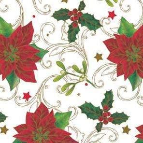 Tafelkleed van tafelzeil per meter Kerstmis K847-3 selecteerbare maat in hoekige ronde ovaal 20 m x 140 cm eckig Veelkleurig