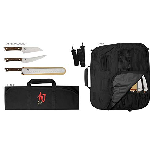 Best Buy! Shun Cutlery 4-Piece Kanso BBQ Set; Three Professional-Grade Knives and Travel-Friendly Kn...