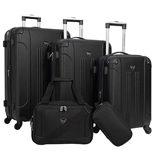 Travelers Club Equipaje, Negro, Set de 3 piezas