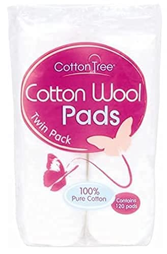 YBG Care™ 360 Cotton Wool Round Pads - 3 packs of 120