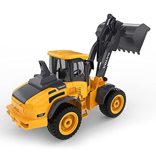 ALYHYB Bulldozer De Juguete De Control Remoto 1:16 Hobby RC Cargador Frontal 4WD con Luces Y Sonidos para Niños De 8 A 15 Años Regalo para Niños Tractor De Construcción De Control Remoto Eléctrico RC