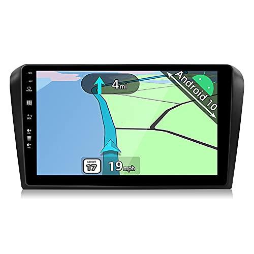 YUNTX Android 10 Autoradio Adatto per Mazda 3 (2004-2012) - 2G+32G - Telecamera posteriore gratuita&MIC - 9 pollici -Supporto DAB / Controllo del Volante / BT 5.0 / CarPlay / Mirrorlink / USB