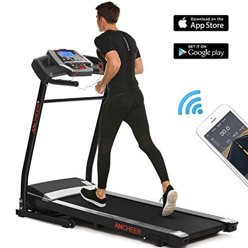ANCHEER Treadmill, APP Control Electric Folding Treadmills (Black) Treadmills