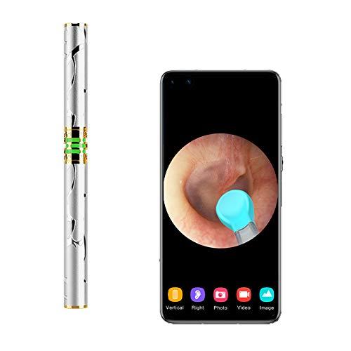 QGGESY Endoscopio para Movil/Camara Endoscopica/WiFi Ear Endoscopio,otoscopio Impermeable Portable HD Borescope, para Android y iPhone Smartphones,Apto para Niños y Adultos,set1
