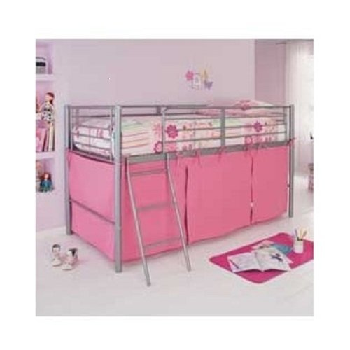 HLS Pink Tent For Mid Sleeper Bed Girls Bedroom Toys Games Storage …