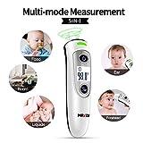 Termómetro de oído para bebés, termómetro infrarrojo para bebés, termómetro de temperatura para adultos, lectura instantánea, alerta de fiebre, termómetro de frente