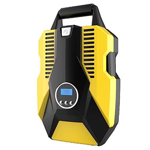 MICEROSHE Bomba de Aire de Coche Popular Portátil compresor de Aire de Bomba 12V Digital neumático del Auto Bomba de Rueda de Emergencia con iluminación LED y el Cable Largo Diseño Compacto