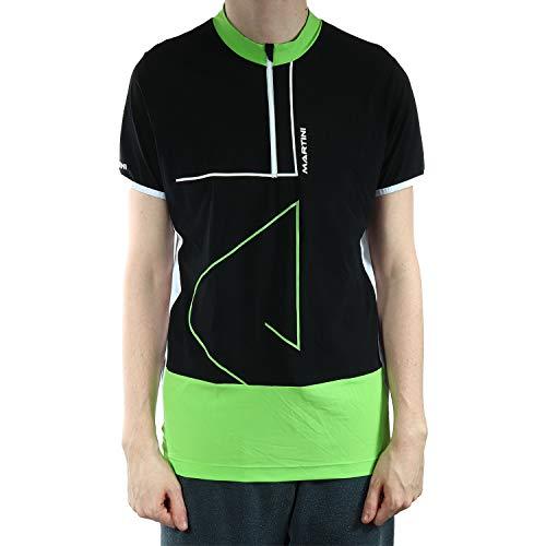 Martini 6174020 Discovery T-Shirt Fonctionnel pour Homme, Noir/Vert, L