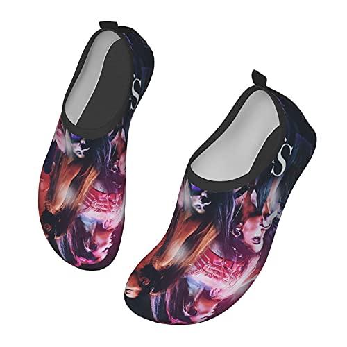 AIMILUX Ariana Grande - Zapatos de agua unisex ligeros y flexibles, adecuados para juegos de playa, natación, surf, piscinas para niños y niñas, Black, 36/41.5 EU