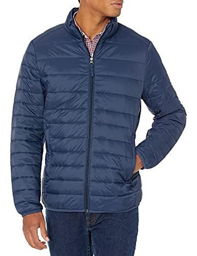 Amazon Essentials Lightweight Water-Resistant Packable Puffer outerwear-jackets, navy, S