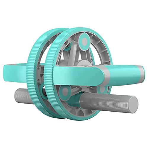 YADLCR Multifuncional AB Roller Wheel Push-up Abdominal Fitness Device Dumbbell Ideal Hombres Mujeres Home Gym Cintura Entrenador de Adelgazamiento (Color : Green)