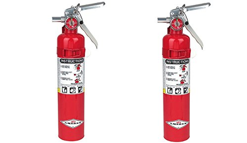 Amerex B417, 2.5lb ABC Dry Chemical Class A B C Fire Extinguisher, with Wall Bracket (2-PACK)