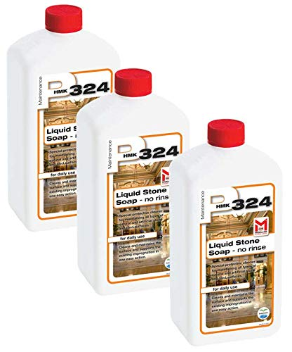 HMK P324 (P24) Liquid Stone Soap 1-Liters 3-Pack pH Neutral Stone Maintenance Cleaner