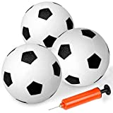 6' Kids Soccer Balls Game Sports Toys Set Beach Pool Rubber Football Replacement Bouncy PU Mini Balls for Goal Hoops Kids Baby Boys Girls Adults Toddlers School Indoor Outdoor Home Playground