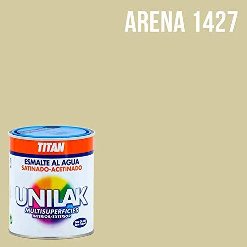 Esmalte al agua Unilak satinado - 750 mL, 1427 Arena