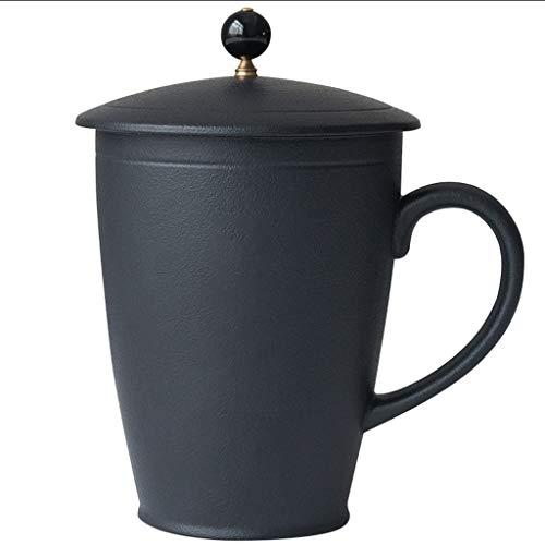 zlw-shop Taza de café Taza de Gran Capacidad Simple de cerámica Grande de la Boca de la Copa con Tapa Taza de Porcelana