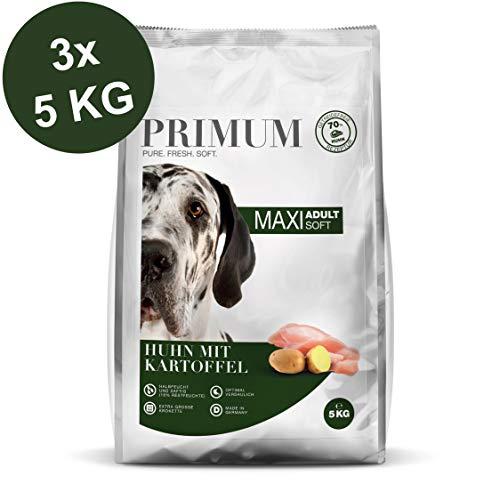 Primum Soft Maxi Huhn mit Kartoffel Trockenfutter 3 x 5 kg