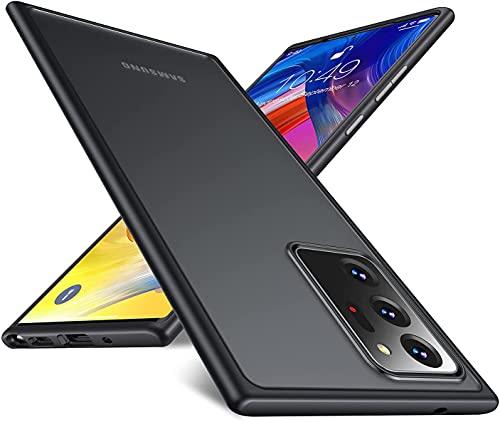Humixx Kompatibel mit Samsung Galaxy Note 20 Ultra 5G Hülle [Military Grade Drop Tested] Anti-Fall Stoßfest Schutzhülle, Transluzent Handyhülle mit Weiche TPU Rahmen, Hülle für Note 20 Ultra(6.9