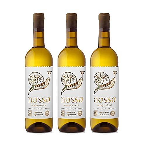 Vino Blanco Menade Nosso Verdejo Natural de 75 cl - D.O. Rueda - Bodegas Menade (Pack de 3 botellas)