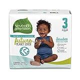 Seventh Generation Pañales para bebé, protección sensible, tamaño 3, 27 unidades