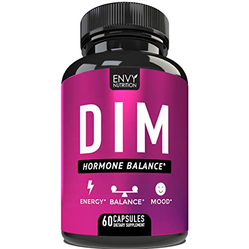 DIM - Hormone Balance Supplement for Men and Women - Estrogen Metabolism, Menopause Relief, Energy & Mood - 60 Day Supply - 60 Capsules