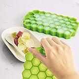 Molde de silicona para cubitos de hielo, cubitos de hielo, cubitos de hielo, 37 compartimentos para alimentos para bebés, bebidas, whisky, cubitos de hielo