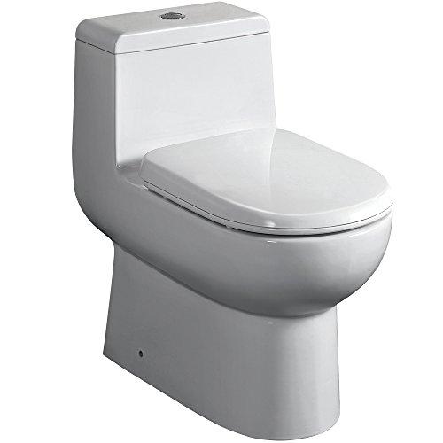 Fresca Bath FTL2351 Antila 1 Piece Dual Flush Toilet with...