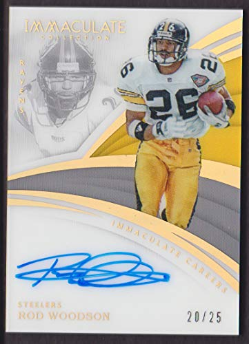 2018 Panini Immaculate Collection Football Careers Autograph #IC-RW Rod Woodson Auto 20/25