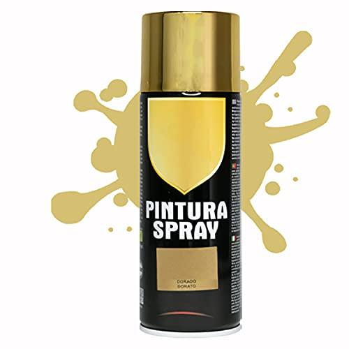 Pintura Spray 400ml para Metal/Madera/Plástico (Dorado, 1 Bote)