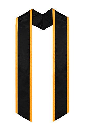 GraduationMall Schlichte Graduierung Honor Abschluss Stola Abgewinkeltes Ende mit Trim Unisex Erwachsene 183cm lang