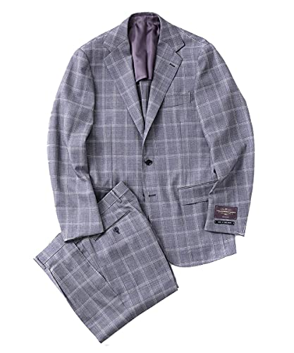 [ナノユニバース] RING JACKET リングジャケット 別注 V.B.C ウィンドペーン3Bスーツ メンズ 46 グレー