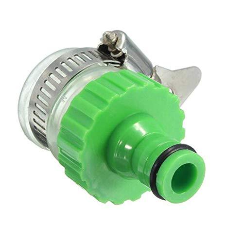 PACPL Conector de tubería práctico Universal del jardín Adaptador del Grifo, Compatible con Dia de 14 mm-20 mm.Grifo de Agua (Color : Green)