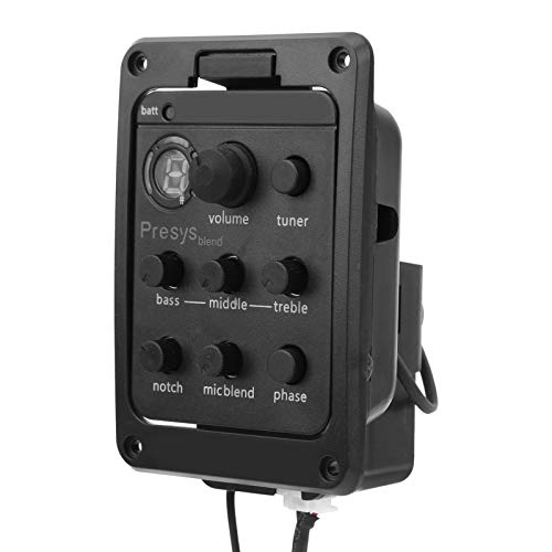 Pastillas con mezcla de micrófono Mezclador de modo dual Preamplificador Ecualizador Accesorios piezoeléctricos para guitarras