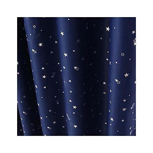 Lou Chapman Shiny Silver Star Fensterverdunkelungsvorhänge für Kinder Kinderschlafzimmerfenster Voile Tulle Vorhänge für Wohnzimmer Dekor, Farbe 4, W100cmXL130cm, Bleistift Falte