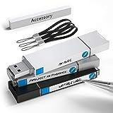 Possibox Memoria USB 64GB 3.0 de con Pendrive de Etiqueta Escribible - Equipado con Cordón de Cuero - Pack 3 Unidades de Colores