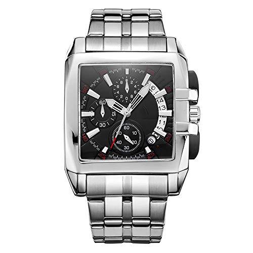 Voigoo Marken-Mann-Quarz-Stahlarmbanduhr Wasserdicht Chronograph Geschäft Uhren Male Military Uhr Relogio Hodinky