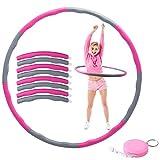 Herefun Hula Hoop Fitness, 8 Secciones Hula Hoop Fitness Aro de Fitness Desmontable, Adelgazante Hula Hoop con Mini Cinta Métrica, Professional Hoop Adecuado para Damas, Hombres, Niños