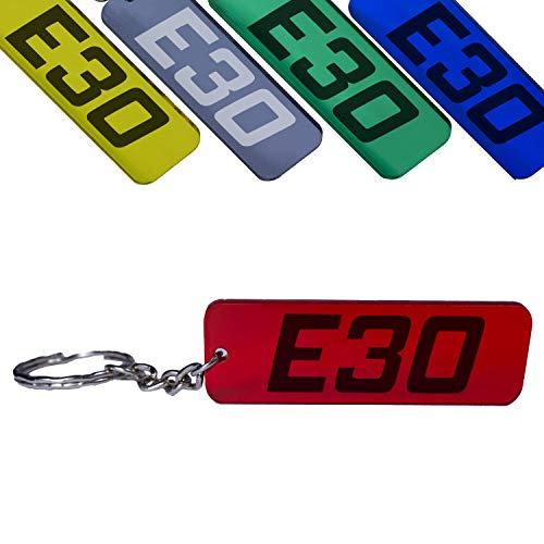 Reskey E30 3er Schlüsselanhänger 316 318 320 323 325 M3 Tuning farbig (Rot)
