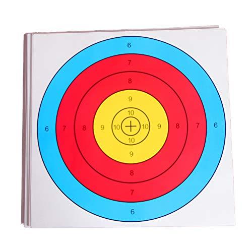 LIOOBO 20 Stücke Zielscheiben Papier Bogenschießen Zielpapier Schießen Zielpapier 40CM Zielpapier Halber Ring Zielpapier Für Bogenschießen Sport Training