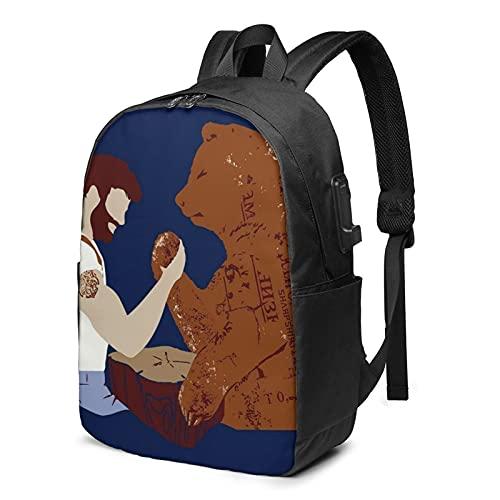Mochila multiusos para ordenador portátil, impermeable, bolsa de viaje para adolescentes y...