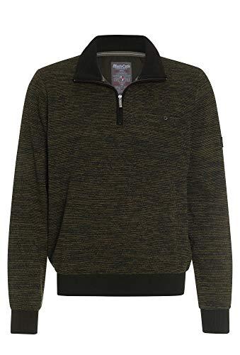 Mode Monte Carlo Sweat-Shirt Troyer Zip, Olive(Oliv (420)), Gr. L