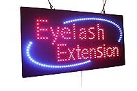 まつげエクステンションサイン、スーパーブライト高品質LEDオープンサイン、ストアサイン、ビジネスサイン、ウィンドウサイン、LEDネオンサイン